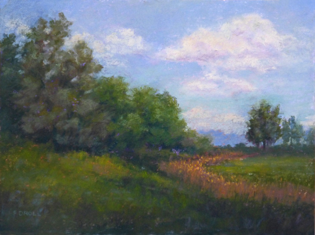 An original pastel painting by Francesca Droll of Flathead Valley in northwest Montana
