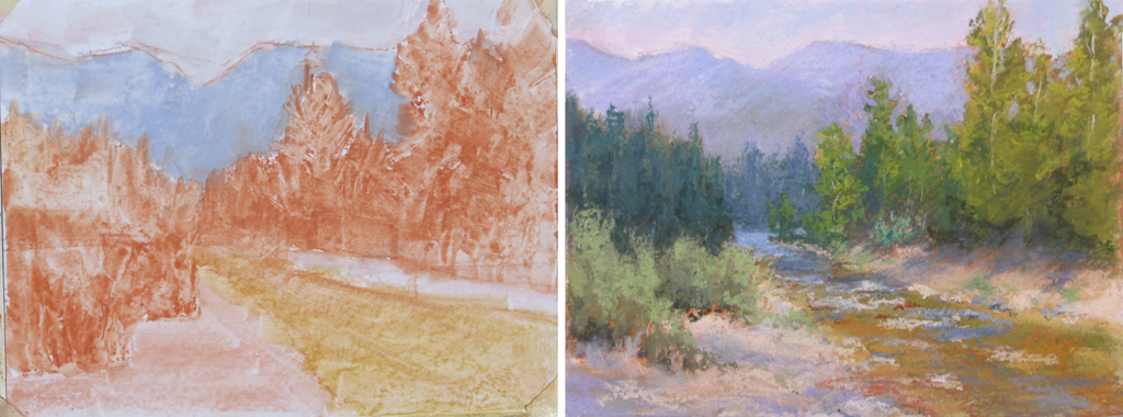 Photo of pastel painting.