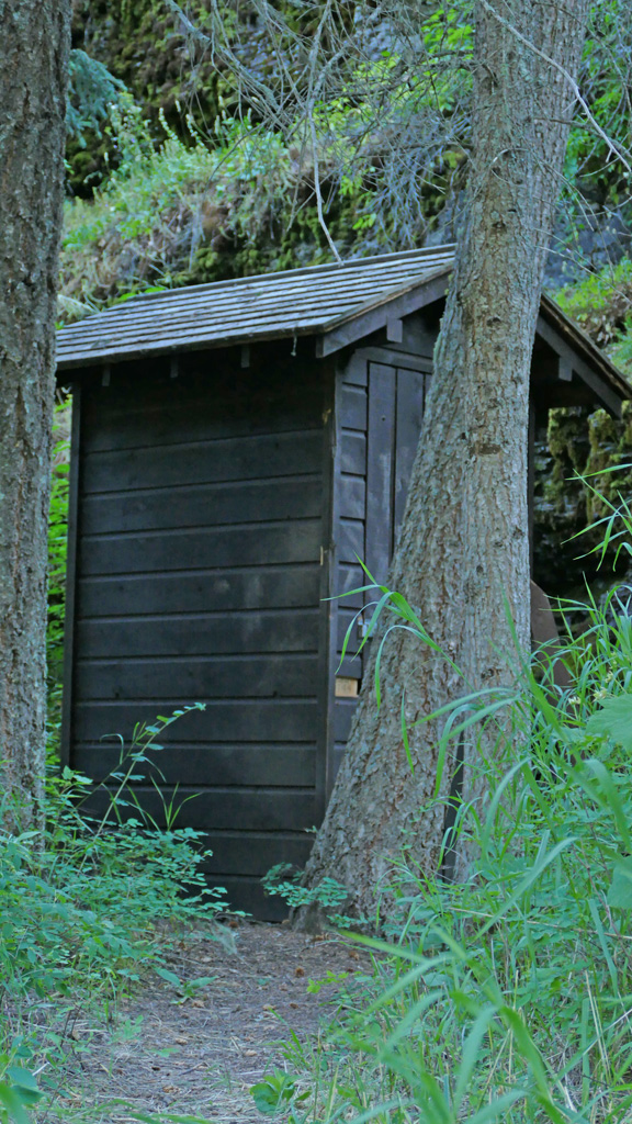 Photo fo an outhouse