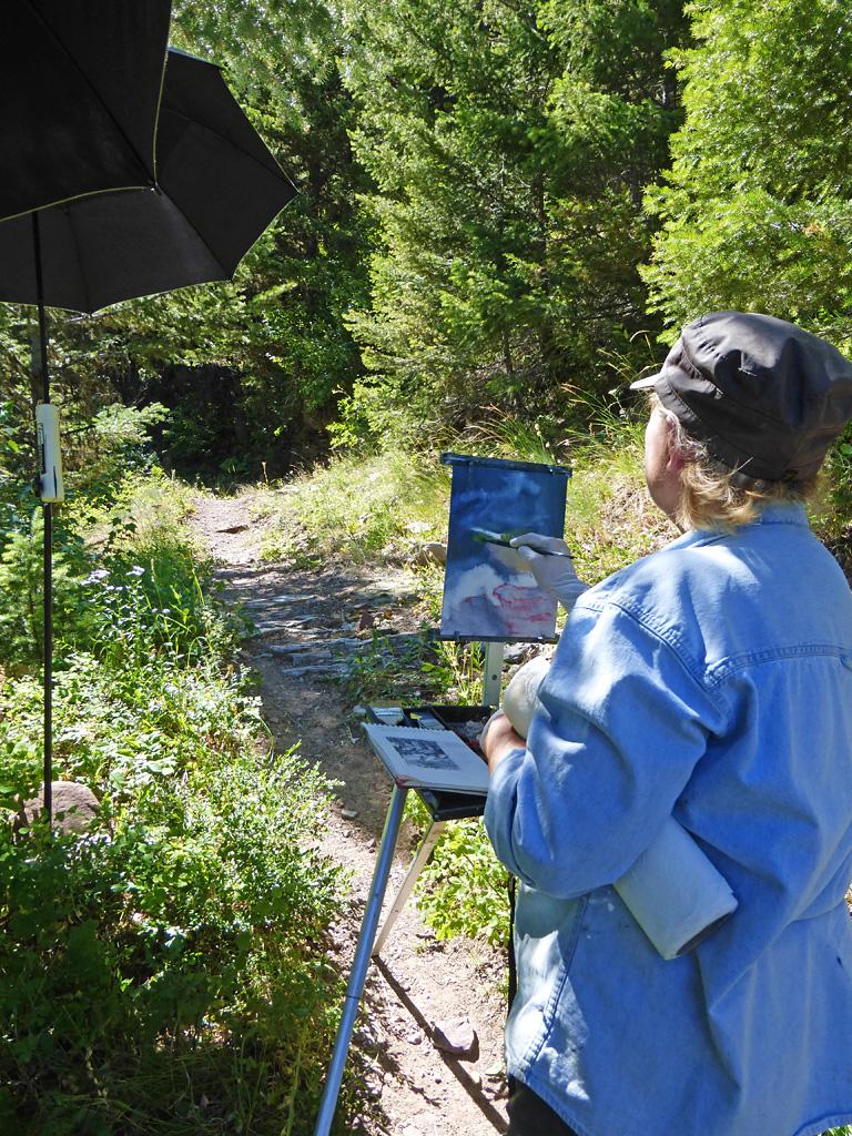 Photo of Gini Ogle painting.