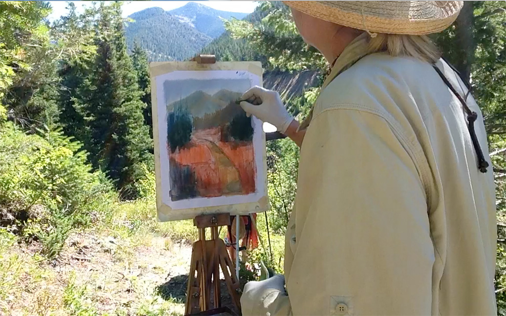 Photo of Francesca Droll painting