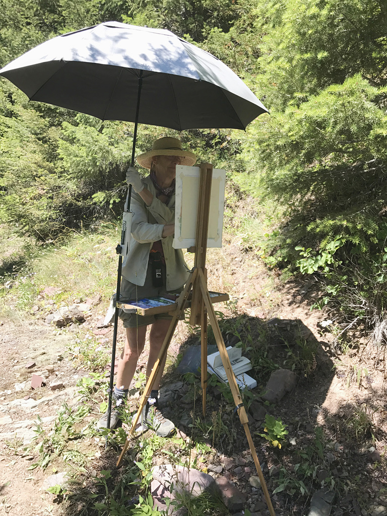 Photo of Francesca painting.