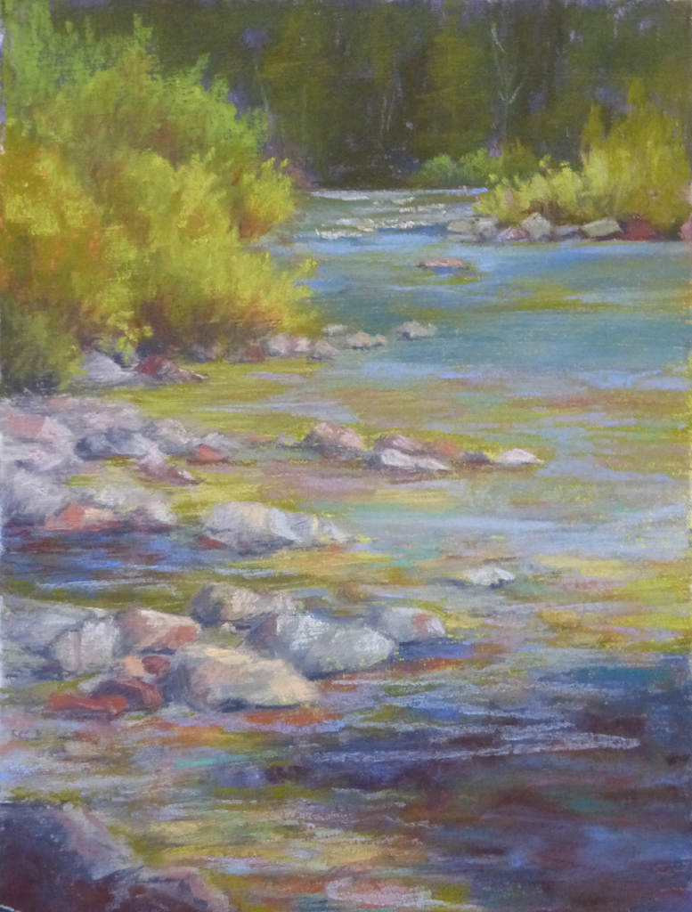 Photo of a pastel painting by Francesca Droll.