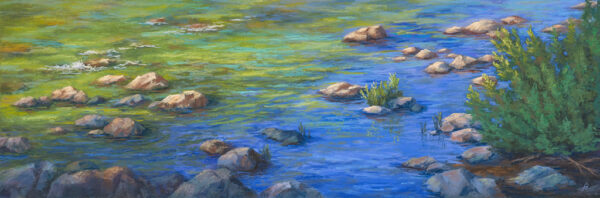 A pastel painting by Francesca Droll titled Captivated