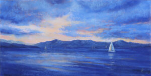 A pastel painting by Francesca Droll titled Somers Sailing 2
