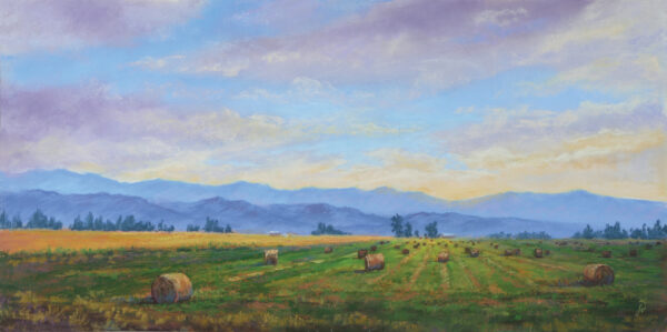 A pastel painting by Francesca Droll titled Heading Home