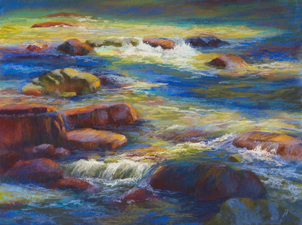 Pastel painting of Granite Creek.