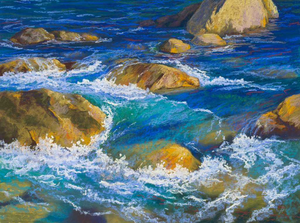 An original pastel painting by Francesca Droll