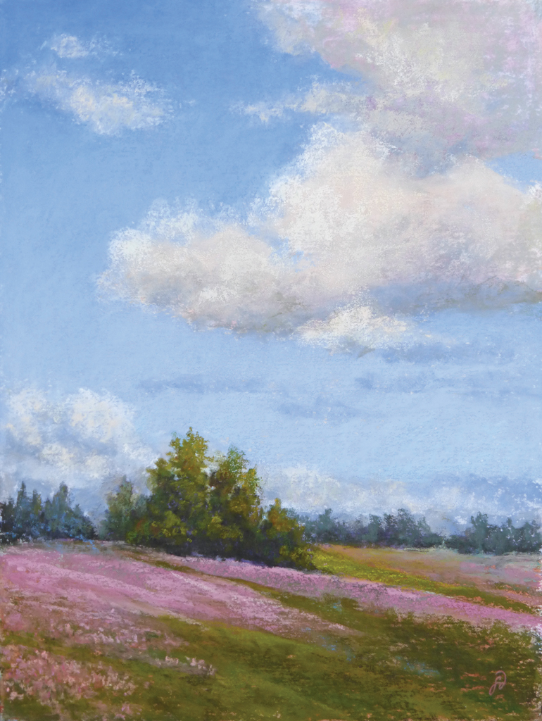 An original pastle painting by Francesca Droll of northwest Montana
