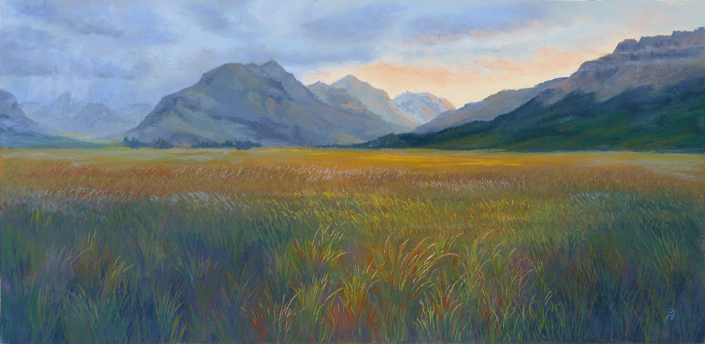 Fracesca Droll pastel painting of Glacier National Park