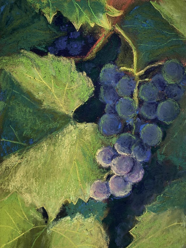 Photo of painting of a bunch of grapes.